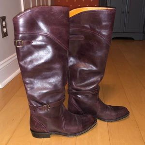 Frye Dorado Boots - Reddish Brown